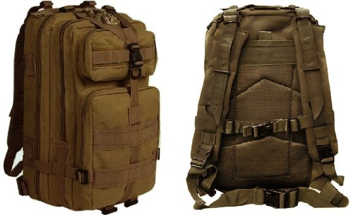 Ultimate Arms Gear Tactical Coyote Tan Compact Level 3 Full Featured Assault Pack Backpack 3 Day Bug Out Bag Combat Multi-Functional Equipment Survival Assault Transport with Adjustable Slip Shoulder Length Straps MOLLE Modular PALS Shooting Range Military Army Patrol Paintball Hunting Camping Travel Vacation Heavy Duty Pack