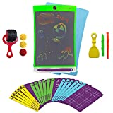 Boogie Board Magic Sketch Color LCD Writing Tablet + 4 Different Stylus and 30 Double-Sided Stencils for Drawing, Writing Tracing eWriter Ages 3+ (Magic Sketch Deluxe Kit)