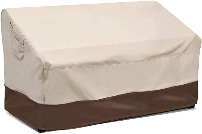 Amazon Com Vailge Heavy Duty Deep Patio Sofa Cover 100 Waterproof Outdoor Sofa Cover Large Lawn Patio Furniture Covers With Air Vent Large Deep Beige Brown Garden Outdoor