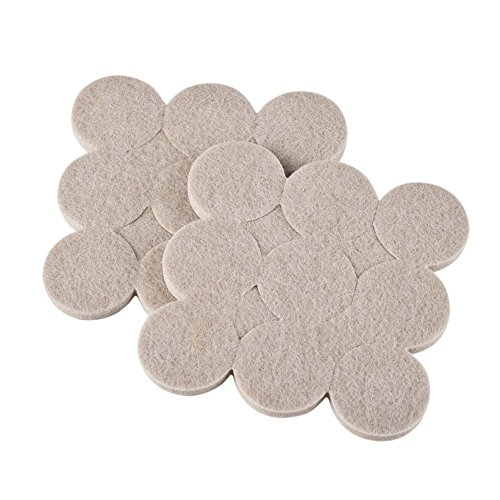 Okayji Self Adhesive Felt Material Pads for Furniture Floor Scratch Protection Round Shape (Grey) 18 Pieces 97