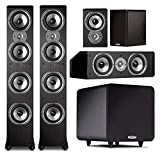 Polk 5.1 System with (2) TSi500 Floorstanders, (2) TSi100 Speakers, (1) CS10 Center and (1) PSW111 Sub
