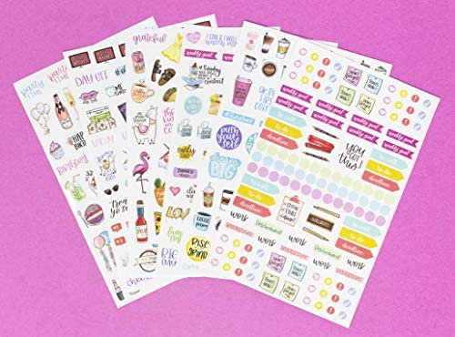 bloom daily planners New Classic Planner Sticker Sheets - Variety Sticker Pack - 417 Stickers Per Pack! 5
