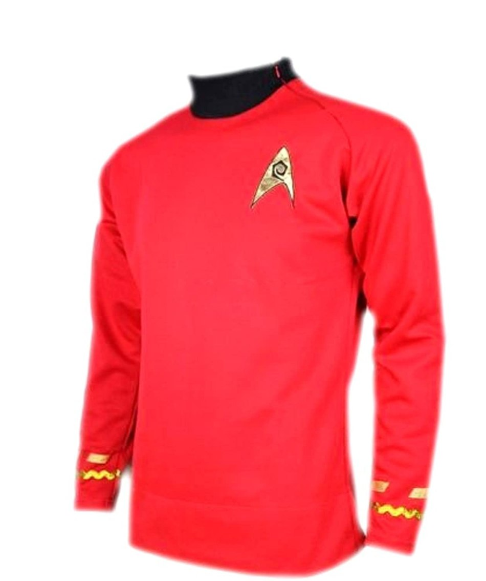 Star Trek Scotty Medicine Classic Red Costume Uniform Shirt TOS