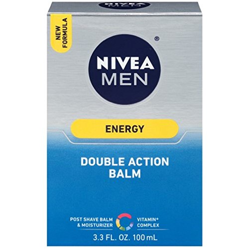 NIVEA FOR MEN Energy, Double Action Balm 3.30 oz (Pack of 3)