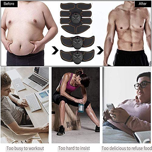 Abdominal muscle trainer, home office exercise wireless portable fitness equipment for men and women with abdominal/arm/leg exercise, free of charge with 10 gel pads 3