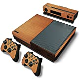 Wooden Design Vinyl Skin Sticker for Microsoft Xbox One Console and Controllers Decal