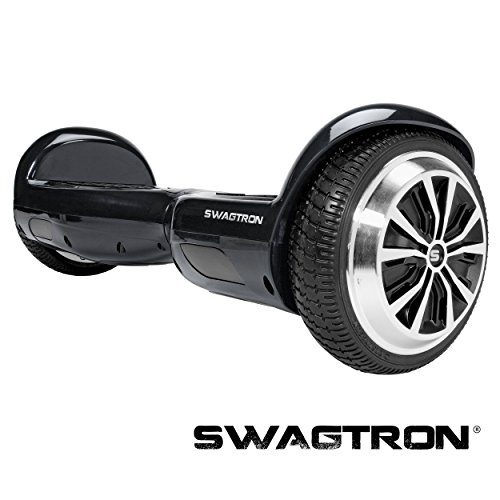 Swagtron Swagboard Pro T1 UL 2272 Certified Hoverboard Electric Self-Balancing Scooter - Your Swag Personal Transporter Awaits You (Black)