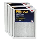 Filtrete Healthy Living Ultimate Allergen Reduction AC Furnace Air Filter, Uncompromised Airflow, Attracts Microscopic Particles like Bacteria & Viruses, MPR 1900, 20 x 20 x 1, 6-Pack