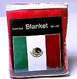 Super Soft Mexican Flag Fleece Blanket 5 ft x 4.2 ft. Bandera de México Cobija Manta Throw Cover