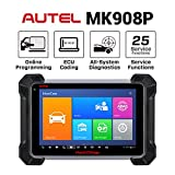 Autel MK908P Diagnostic Scanner (MS908P MaxiSys Pro Upgraded, Same Functions as Elite) J2534 ECU Programming, Coding, Bi-Directional Control, Complete Systems Diagnoses with 25 Service Functions