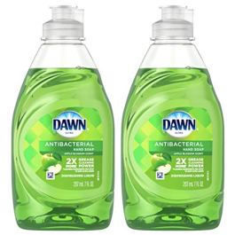 2 Pk. Dawn Ultra Antibacterial Apple Blossom Dishwashing Liquid & Hand Soap – 7oz. (14 Fl. Oz Total)