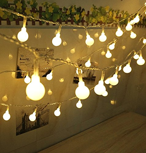 100 LED Globe String Lights, Ball Christmas Lights, Indoor / Outdoor ...