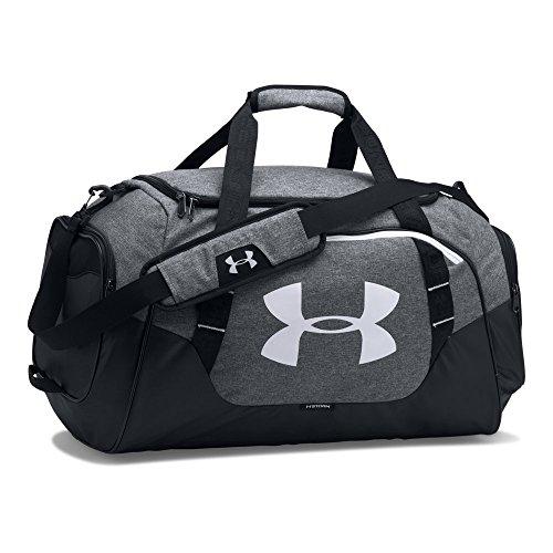 Under Armour Undeniable Duffle 3.0 Gym Bag, Graphite (041)/White, Medium