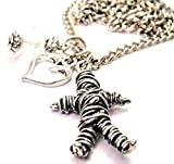 """ChubbyChicoCharms Voodoo Doll 18"""" Fashion Necklace"""