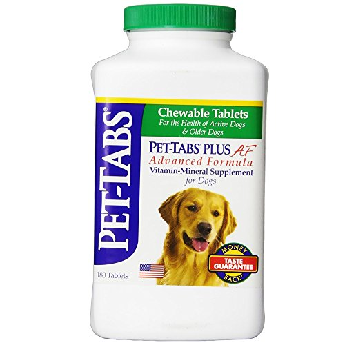 Pet Tabs Plus For Dogs Vitamin Supplement, 180 Count