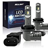 H11/H8/H9 LED Headlight Bulbs 1:1 Design Low Beam/Fog light with Fan, SEALIGHT S2 Series Upgraded CSP Chips 7600LM 6000K Xenon white IP67-2 Year Warranty (2 Pack)