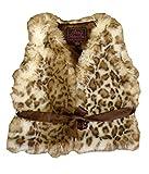 Foxfire for Kids Lilly Patricia Snow Leopard Faux Fur Vest