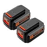 ANTRobut 2200mah 40V LBXR2036 Lithium MAX Replacement Battery for Black & Decker LBX2040 LBX36 LBXR36 Black and Decker 40 volt Battery(2Pack)