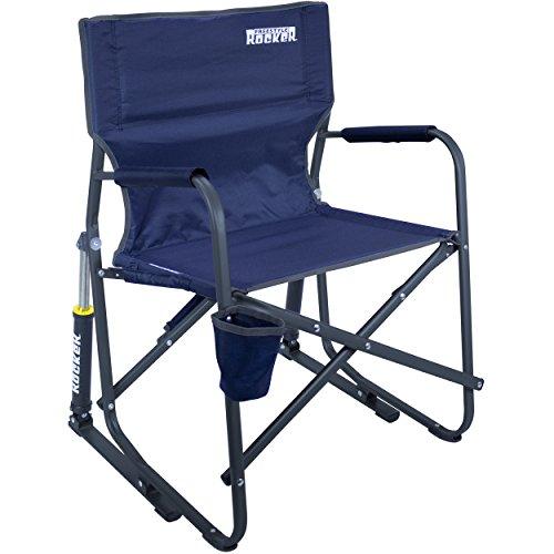 GCI Outdoor Freestyle Rocker Portable Folding Rocking Chair, Indigo