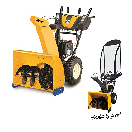 Cub Cadet Snow Blower Thrower Gas Powered Electric Start (243cc OHV 2X26 with Classic Accessories Universal Snow Thrower Cab ABSOLUTELY free!)