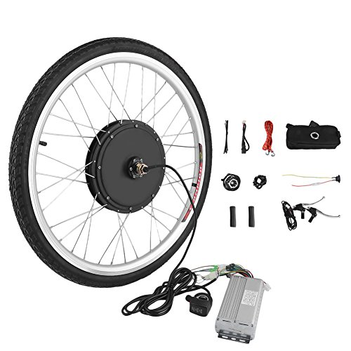 Blackpoolfa Premium E-bike Conversion Kit | 26 inch Front Wheel 48V 1000W Electric Bicycle Conversion Motor Kit with Controller and PAS System -Cycling Hub Bike Accessories