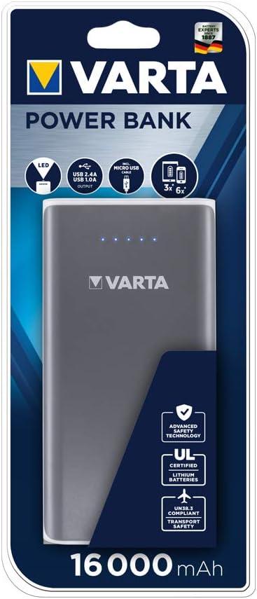 51vSVu3zrIL. AC SL1000  - Recensione VARTA PowerBank 16.000 mAh