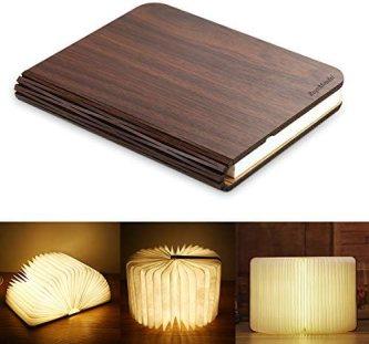 RegeMoudal Libro Luz LED Lámpara Forma de Libro Plegable Recargable USB Book Lamp con Batería de Litio Magnético Papel DuPont Lámpara Libro Decorativa Lámpara de Noche