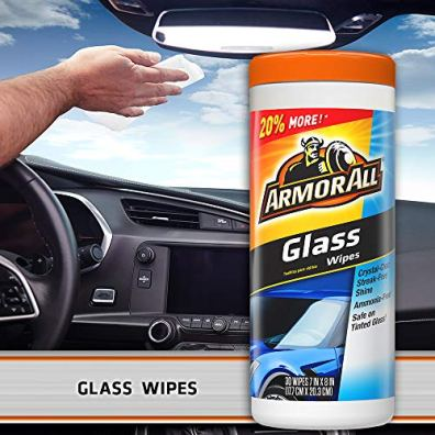 Armor-All-Protectant-Glass-and-Cleaning-Wipes-30-Count-Each-Pack-of-3
