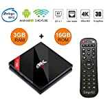 H96 Pro+TV Box Android 7.1 Nougat 3GB RAM 16GB ROM 4K Smart TV Box Amlogic S912 Chipset Dual-Band WiFi 2.4GHz/5.0GHz Bluetooth 4.1 1000M LAN Android Box