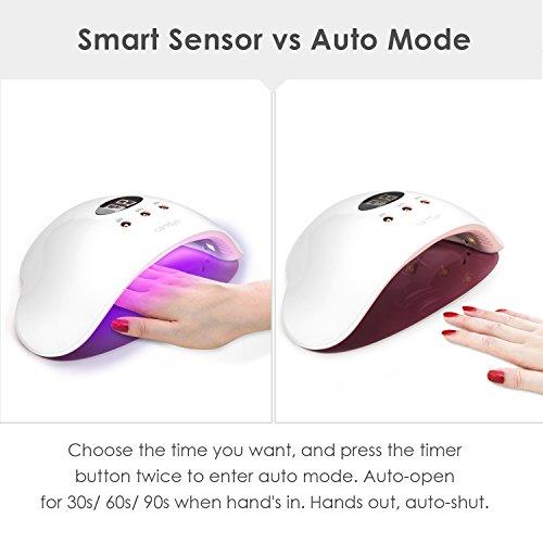 Lampada UV LED Unghie, Carttiya Asciuga Unghie per Smalto UV LED in Gel, con Automatico Sensore a Infrarossi e Display…