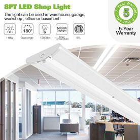110W-8FT-LED-Wraparound-Shop-Lights-12600lm-5000K-Ultra-Slim-LED-Strip-Lights-Flush-Mount-Warehouse-Garage-Office-Ceiling-Light-Fixture-8-Foot-Fluorescent-Tube-Replacement-4-Pack