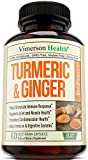 Turmeric Curcumin with Ginger & Bioperine - Best Vegan Join Pain Relief, Anti - Inflammatory, Antioxidant & Anti-Aging Supplement with 10mg of Black Pepper for Better Absorption. Natural Non-GMO