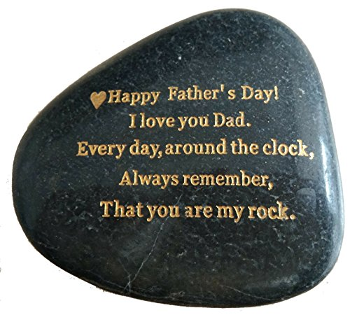 Father's Day Gifts From Daughter or Son,' Happy Fathers Day, I love you Dad, everyday around the clock, always remember, that you are my rock.' Engraved Rock gift, Only 250 made, Rare Unique Gift.