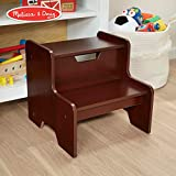 Melissa & Doug Wooden Step Stool (Espresso, Brown]