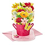 Hallmark Paper Wonder Mothers Day Pop Up Card (Flower Bouquet, You Deserve This Day)