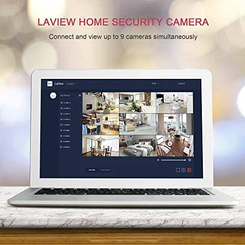 LaView Security Cameras 4pc,Home Security Camera Indoor 1080P,WiFi Cameras for Pet, Motion Detection, Two-Way Audio, Night Vision, Works with Alexa & Google Assistant, iOS & Android & Web Access