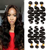 Brazilian Bundles Body Wave Hair 3 Bundles Deals Real Human Hair Bundles Vendors Sew In Hair Extension Remy Virgin Hair Weave Double Weft Top Quality Natural Color Can Be Dyed And Bleach 12 14 16 Inch