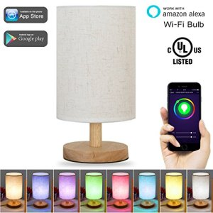 LOHAS Smart LED Bulb, Wi-Fi Light, Multicolored LED Bulbs, LED Dimmable 60W Equivalent, Smartphone Controlled Daylight & Night Light, Home Lighting Compatible with Alexa