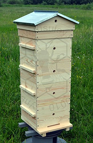Warre Hive / Vertical Top Bar Hive - 4 bodies, galvanized iron gabled roof