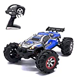 Remote Control Car RC Car, KELIWOW 1/12 Scale 18.64 MPH Waterproof 4WD 2.4GHz Off-Road All Terrain Truck with Independent Suspension (Blue) ¡­