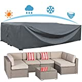 AKEfit Patio Furniture Cover Outdoor sectional Furniture Covers Waterproof Dust Proof Furniture Lounge Porch Sofa Protectors D126'x W64'x H29'