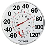 Taylor 497 12' Outdoor Thermometer Temperature/Humidity Gauge