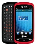 LG Xpression C395 Qwerty Keyboard Slider Cellphone GSM Unlocked - Red