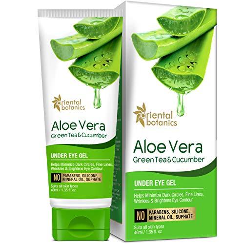 51vnPE2WmyL - Oriental Botanics Aloe Vera, Green Tea & Cucumber Under Eye Gel, 40ml
