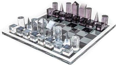 Bello Games New York's Luxury Contemporary Acrylic Chess Set
