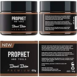PREMIUM Beard Balm Butter and Wax Formula For Men Grooming! Adds Mild Styling & Hold, Softens Beards & Mustache, Gives Shine and Promotes Fuller Thicker Beard Oil Hair Growth! Prophet and Tools  Image 4