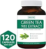 Green Tea Extract 98% - 1000mg with EGCG - 120 Capsules (Non-GMO) for Weight Loss & Metabolism Boost - Natural Diet Pills - Leaf Polyphenol Catechins - Antioxidant Supplement - 500mg per Capsule