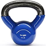 Yes4All Vinyl Coated Kettlebell Weights Set – Great for Full Body Workout and Strength Training – Vinyl Kettlebell 5 lbs