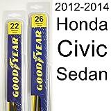 Honda Civic Sedan (2012-2014) Wiper Blade Kit - Set Includes 26' (Driver Side), 22' (Passenger Side) (2 Blades Total)
