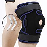Nvorliy Plus Size Hinged Knee Brace Dual Strap Patellar Stabilization Design & High-Level Support For Arthritis, ACL, LCL, MCL, Meniscus Tear, TDislocation, Post-Surgery Recovery Fit Men & Women (3XL)